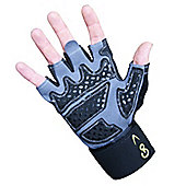 GoFit Diamond Tac Weightlifting Glove with Wrist Wrap Black XX LARGE