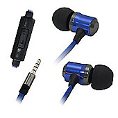 Tortoise™ Look Metal Earphones Blue