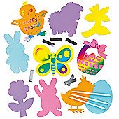 Easter Coloured Scratch Art Magnets (Pack of 10)