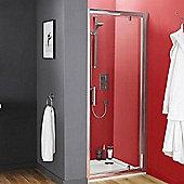Premier Pacific Pivot Shower Door 900mm Wide, 6mm Glass