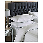 House Of Cotton Satin Stripe Duvet Set Silver Single