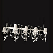 De Majo 8090 Chandelier - White with Clear Glass