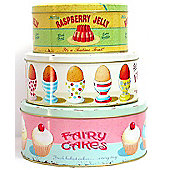 ECP Design Ltd Coffee Break 3 Piece Nesting Cake Tin Set