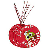 Humour Sprout Christmas Gift Tags, 6 pack