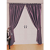 Como Ready Made Lined Curtains - Purple