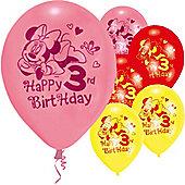 9' Disney Minnie Mouse 3rd Birthday (6pk)