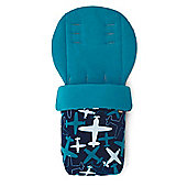 Mamas & Papas - Universal Soft Fleece Footmuff - Blue Planes