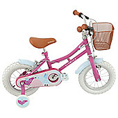 "Elswick Heritage 12"" Girls' Bike with Stabilisers"