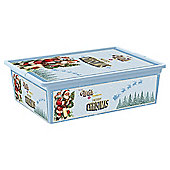 Christmas Decorations Storage Box with Lid, Large