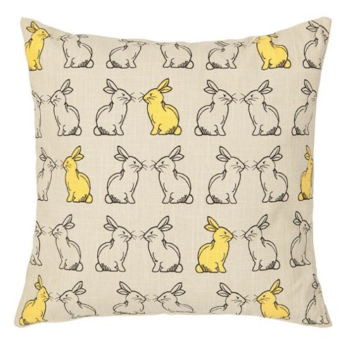 F&F Home Kissing Rabbits Cushion