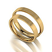 9ct Gold 3mm Flat Court Wedding Band