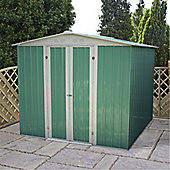 6ft x 7ft Value Metal Apex Shed (1.95m x 2.22m) + Free Anchor Kit