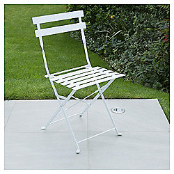 Metal Folding Bistro Chair, White