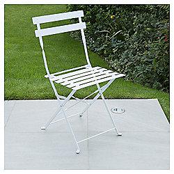 Metal Folding Bistro Chair, White