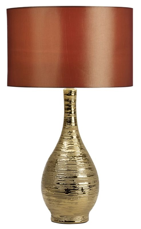 Endon Lighting Ceramic Table Lamp in Gold Glaze