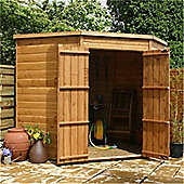 7ft x 7ft Windowless Tongue And Groove Corner Shed
