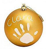 Baby Art Creative Baby Souvenirs Christmas Ball *GOLD*