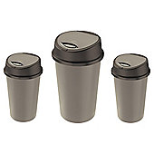 Tesco 2 Recycle Touch Bin Set - Platinum