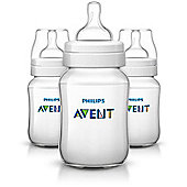 Philips Avent Classic+ Feeding Anti-Colic Bottle 260ml/9oz Triple SCF563/37