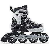 SFR Kids' Inline Skates - Pulsar Adjustable Pink - Medium (Junior UK 12 - UK 2) - Silver