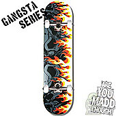 Madd Gear Gangsta Series On Fire Complete Skateboard
