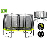 14ft Twist Trampoline Green / Grey
