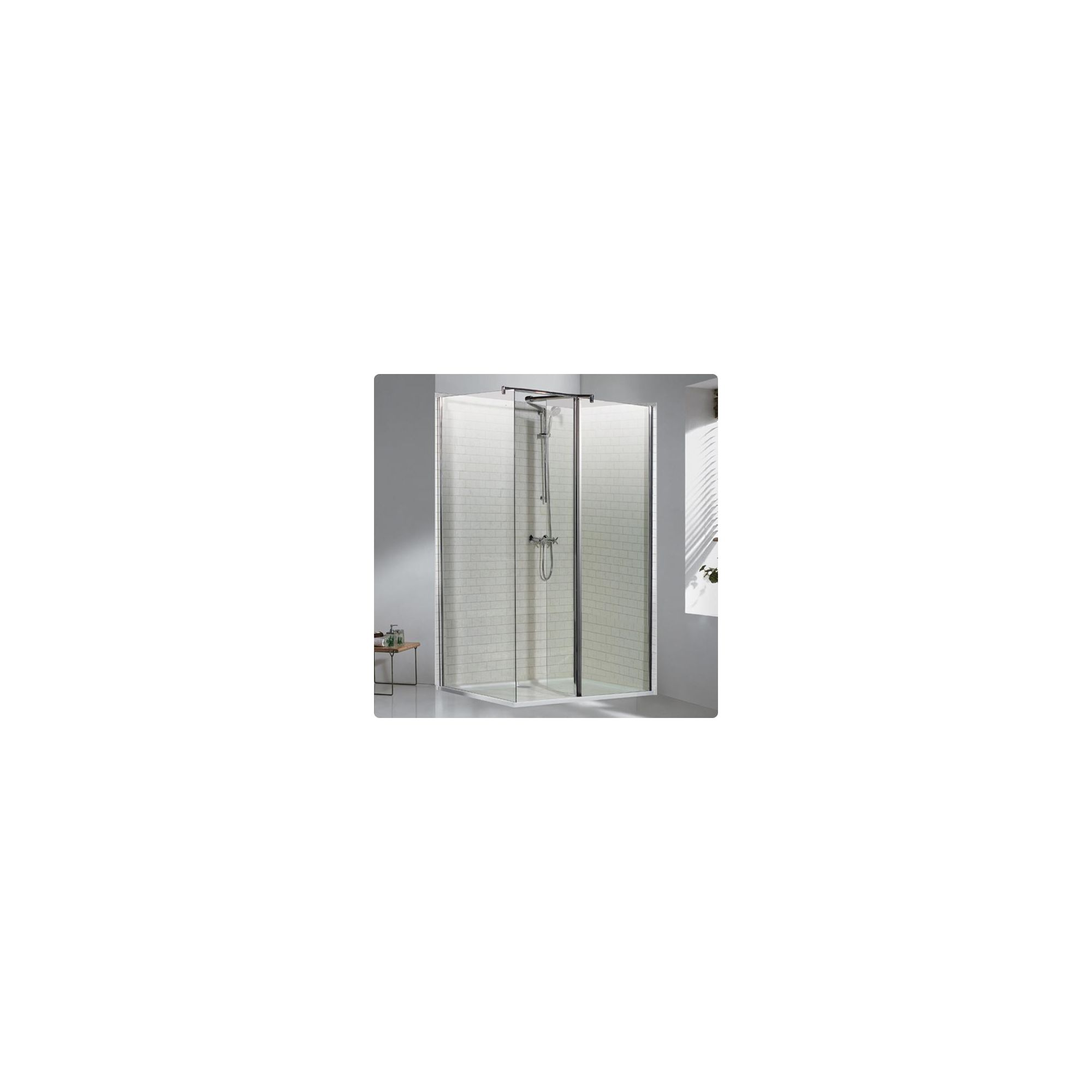 Duchy Choice Silver Walk-In Shower Enclosure 1200mm x 800mm (Complete with Tray), 6mm Glass at Tesco Direct