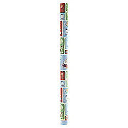 Chilly Santa Christmas Wrapping Paper Blue, 10m