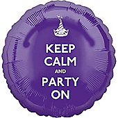 18' Keep Calm and Party On (each)