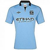 2012-13 Man City Home Umbro Football Shirt - Blue