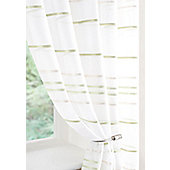 Ribbon Voile Curtain Panel - Green