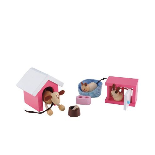 Rosebud Village Wooden House Perfect Pets