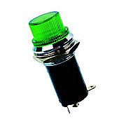 Bayonet Bulb Light Lampholder Chromed Bezel Green