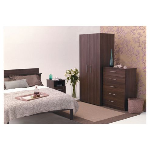 Alto Furniture Mode Two Door Wardrobe in Walnut