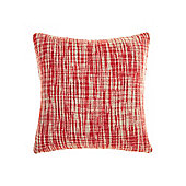 Linea Oversized Woven Cushion, Red