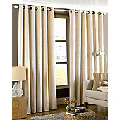 Emperor Eyelet Ready Made Curtains- Fully Lined - 5 Colours - Cream