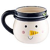Tesco Chilli Snow Man Mug Embossed