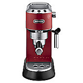 DeLonghi Dedica EC680.R Pump Espresso Coffee Machine, Red
