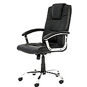 Alphason Houston Leather Executive Chair - Black
