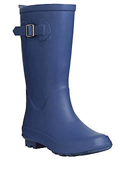 F&F Gingham Lined Wellies - Blue
