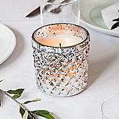 Crackled Diamond Glass Battery LED Votive Candle