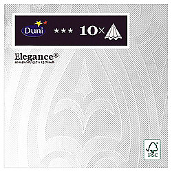Duni Elegance Napkins, 40cm, 10 Pack, White