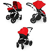 ickle bubba Stomp V2 3-in-1 Travel System (Red)
