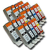 25 Chipped Compatible Canon PGI-525 & CLI-526 Ink Cartridges