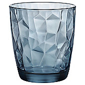 Bormioli Hammered Glass, Blue, Single