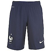 2014-15 France Nike Away Shorts (Navy) - Kids - Navy