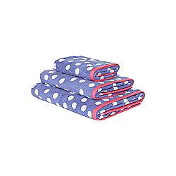 Blue Polka Dot Bath Sheet