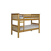 Verona Barcelona Short Length Kids Bunk Bed - Small Single - Pine