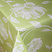 Country Flora Green 200cm x 135cm Oilcloth Tablecloth