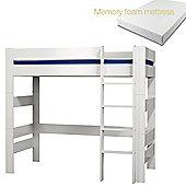 Kids World High sleeper with Memory foam mattress